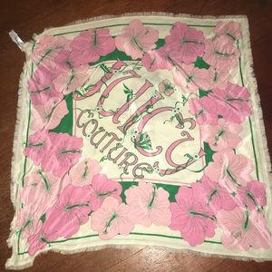 JUICY COUTURE 100% SILK SCARF